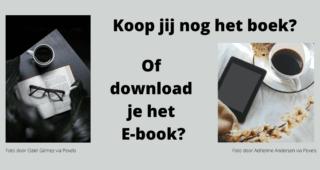 Koop jij nog het boek ?  Of download je het E-book?